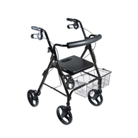 "Drive 750NBK DLite Rollator w/ 8"" Wheels & Loop Brakes-Midnight Black"