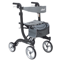 Drive Medical Nitro Euro Style Walker Rollator, Tall