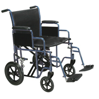 Drive Bariatric Heavy Duty Transport Wheelchair w/ Swing Away Footrest