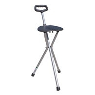 Essential Medical Supply W1450 Three Leg Folding Seat Cane